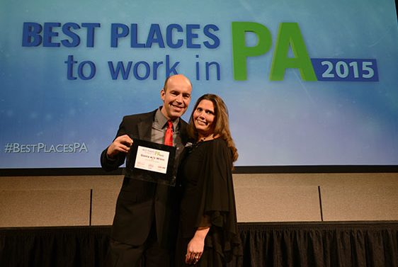 Bruce and Stacy Freshwater Accepting Best Places to Work in PA 2015