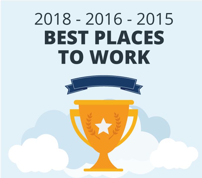 Best Places to Work 2018 2016 2015