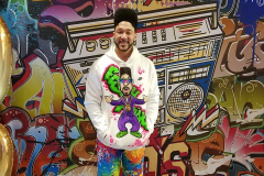 Charlie Batch dressed for the 90s theme!